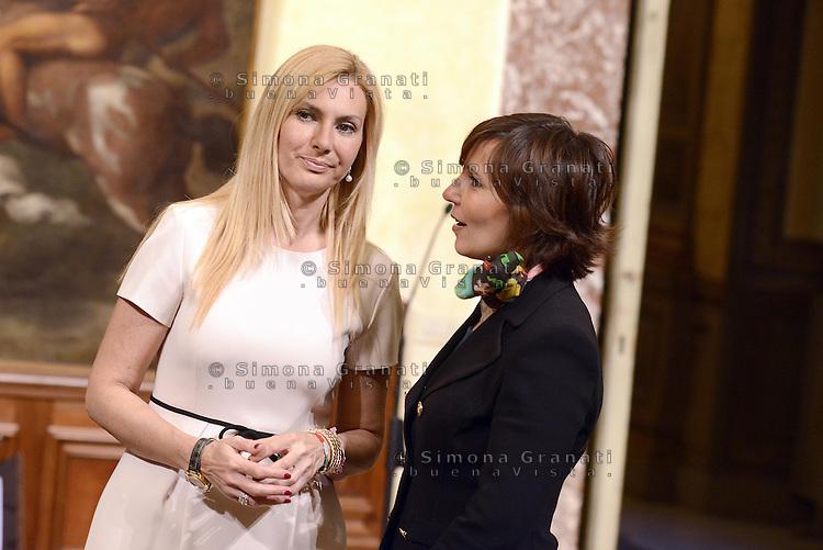Roma, 3 Mag 2013.Giuramento a Palazzo Chigi dei Sottosegretari e Viceministri del Governo Letta..Michaela Biancofiore e Sabrina De Camillis