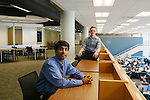 "College and university libraries have been experimenting with so-called ""Walden Zones"" or deep quiet areas, designed to help students work free of the distractions of technology...Ameet Doshi (seen in blue), the user experience librarian at Georgia Tech Library, is seen in a quiet zone with rising Georgia Tech junior Ian Bailie at the Atlanta university June 28, 2012"
