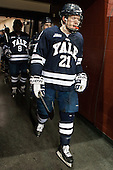 Colin Dueck (Yale - 21) - The Boston College Eagles tied the visiting Yale University Bulldogs 3-3 on Friday, January 4, 2013, at Kelley Rink in Conte Forum in Chestnut Hill, Massachusetts.