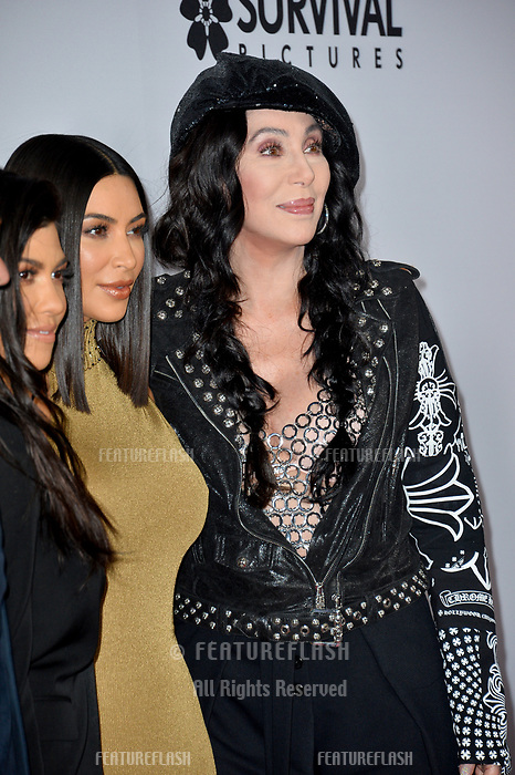 Kourney Kardashian, Kim Kardashian, Cher at the premiere for &quot;The Promise&quot; at the TCL Chinese Theatre, Hollywood. Los Angeles, USA 12 April  2017<br /> Picture: Paul Smith/Featureflash/SilverHub 0208 004 5359 sales@silverhubmedia.com