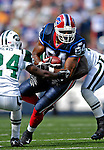 30 September 2007: Buffalo Bills tight end Robert Royal in action against the New York Jets at Ralph Wilson Stadium in Orchard Park, NY. The Bills defeated the Jets 17-14 for their first win of the 2007 season...Mandatory Photo Credit: Ed Wolfstein Photo for UPI