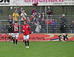 Sandhausen 19.04.2008, Die Fans bekommen ein Trikot eines Ingolst&auml;dter Spieler zugeworfen in der Regionalliga S&uuml;d 2007/08 SV Sandhausen 1916 - FC Ingolstadt 04<br /> <br /> Foto &copy; Rhein-Neckar-Picture *** Foto ist honorarpflichtig! *** Auf Anfrage in h&ouml;herer Qualit&auml;t/Aufl&ouml;sung. Belegexemplar erbeten.