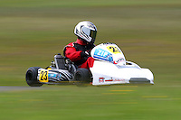 Clayton Merz, 23, races in the Rotax Light class during the 2012 Superkart National Champs and Grand Prix at Manfeild in Feilding, New Zealand on Saturday, 7 January 2011. Credit: Hagen Hopkins.
