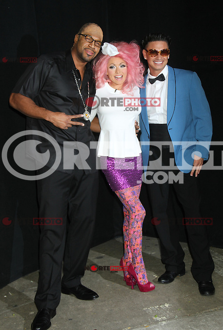 NEW YORK, NY - NOVEMBER 5: Michael Strahan, Kelly Ripa and Pauly D at Live With Kelly &amp; Michael! for the 2012 edition of the &quot;Live&quot; Halloween Party at ABC Studios in New York City. November 5, 2012. &copy;&nbsp;RW/MediaPunch Inc. .<br />