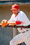 8 March 2006: Kory Casto, infielder for the Washington Nationals, in the dugout prior to a Spring Training game against the St. Louis Cardinals. The Cardinals defeated the Nationals 7-4 in 10 innings at Space Coast Stadium, in Viera, Florida...Mandatory Photo Credit: Ed Wolfstein.
