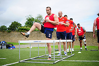Michael van Vuuren of Bath Rugby in action. Bath Rugby pre-season skills training on June 21, 2016 at Farleigh House in Bath, England. Photo by: Patrick Khachfe / Onside Images