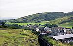 Hilltop view of Edinburgh,  Scotland.