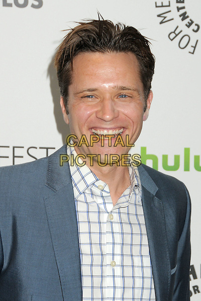 """Seamus Dever.PaleyFest 2012 Presents """"Castle"""" held at The Saban Theatre, Beverly Hills, California, USA, 9th March 2012..portrait headshot smiling  blue jacket white checked shirt .CAP/ADM/BP.©Byron Purvis/AdMedia/Capital Pictures."""