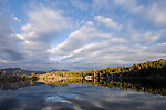 Evening light on Upper Kinney Lake, Toiyabe National Forest, California