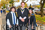 Bachelor of Science Wildlife Biology Thomas Mc Nally, Eoin Mescall, Clementine King Urbin at the Institute of Technology Tralee Autumn Conferring of Awards Ceremony at the Brandon Hotel on Friday