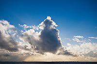 Cloud blocks sunlight over Vestfjord, Nordland, Norway