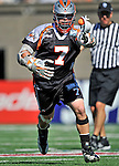 23 August 2008: Denver Outlaws' Midfielder Geoff Snider in action against the Los Angeles Riptide during the Semi-Finals of the Major League Lacrosse Championship Weekend at Harvard Stadium in Boston, MA. The Outlaws edged out the Riptide 13-12, advancing to the upcoming Championship Game.. .Mandatory Photo Credit: Ed Wolfstein Photo