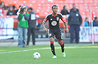James Riley (2) of D.C. United during the game. The Columbus Crew defeated D.C. United 2-1 ,at RFK Stadium, Saturday March 23,2013.