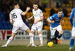 St Johnstone v Inverness Caley Thistle&hellip;09.03.16  SPFL McDiarmid Park, Perth<br />Steven MacLean gets away from Greg Tansey<br />Picture by Graeme Hart.<br />Copyright Perthshire Picture Agency<br />Tel: 01738 623350  Mobile: 07990 594431