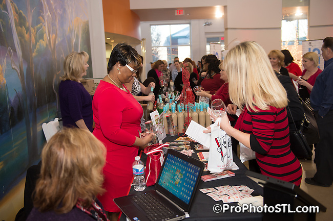 6th annual Fresh 102.5 SLU Care Wine and Chocolate at the Foundry Art Centre in St. Charles on Feb 12, 2014.