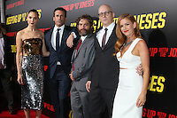 "LOS ANGELES, CA - OCTOBER 8: Gal Gadot, Jon Hamm, Zach Galifianakis, Greg Mottola, Isla Fisher at the ""Keeping Up with the Joneses"" Red Carpet Event at Twentieth Century Fox Studios in Los Angeles, California on October 8, 2016. Credit: David Edwards/MediaPunch"