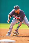 11 March 2013: Atlanta Braves infielder Ernesto Mejia warms up prior to a Spring Training game against the Washington Nationals at Space Coast Stadium in Viera, Florida. The Braves defeated the Nationals 7-2 in Grapefruit League play. Mandatory Credit: Ed Wolfstein Photo *** RAW (NEF) Image File Available ***