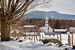 A beautiful snowy day in Tamworth, Lakes Region, NH