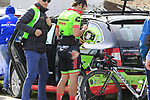 Wouter Wippert (NED) Cannondale-Drapac retires from the race after crashing at the first feed zone at Steenkerke during Gent-Wevelgem in Flanders Fields 2017 running 249km from Denieze to Wevelgem, Flanders, Belgium. 26th March 2017.<br /> Picture: Eoin Clarke | Cyclefile<br /> <br /> <br /> All photos usage must carry mandatory copyright credit (&copy; Cyclefile | Eoin Clarke)