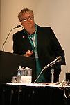 """17 January 2004: Soccer America publisher Lynn Berling-Manuel moderated a panel discussion titled """"Can Women's Professional Soccer Survive in America"""" at the Charlotte Convention Center in Charlotte, NC as part of the annual National Soccer Coaches Association of America convention.."""