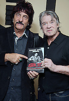 "BERLIN, NJ - SEPTEMBER 21 :  *** EXCLUSIVE***  Carmine Appice pictured with The Hooters drummer, David Uosikkinen at  The Vault at Victor Records for a book signing event in promotion of his new memoir ""Stick It"" in Berlin, New Jersey on September 21, 2016  photo credit  Star Shooter/MediaPunch"