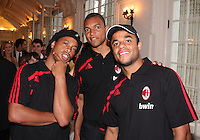 Ronaldinho, Dida and Mancini of AC Milan at a reception for AC Milan at DAR Constitution Hall in Washington DC on May 24 2010.