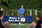 26 September 2013: Duke head coach Robbie Church. The Duke University Blue Devils hosted the University of Virginia Cavaliers at Koskinen Stadium in Durham, NC in a 2013 NCAA Division I Women's Soccer match. Virginia won the game 3-2.