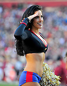 Washington Redskins Cheerleader Abby, the team's 2012 Pro Bowl Cheerleader, performs in a tribute to our nation's military at the two minute warning before halftime in the game against the New England Patriots at FedEx Field in Landover, Maryland on Sunday December 11, 2011.  The Patriots won the game 34 - 27..Credit: Ron Sachs / CNP.(RESTRICTION: NO New York or New Jersey Newspapers or newspapers within a 75 mile radius of New York City)