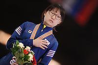 "SHORT TRACK: MOSCOW: Speed Skating Centre ""Krylatskoe"", 15-03-2015, ISU World Short Track Speed Skating Championships 2015, Final Podium Ladies, Minjeong CHOI (KOR), ©photo Martin de Jong"