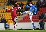St Johnstone v Aberdeen...23.01.15   SPFL<br /> Murray Davidson and Peter Pawlett<br /> Picture by Graeme Hart.<br /> Copyright Perthshire Picture Agency<br /> Tel: 01738 623350  Mobile: 07990 594431