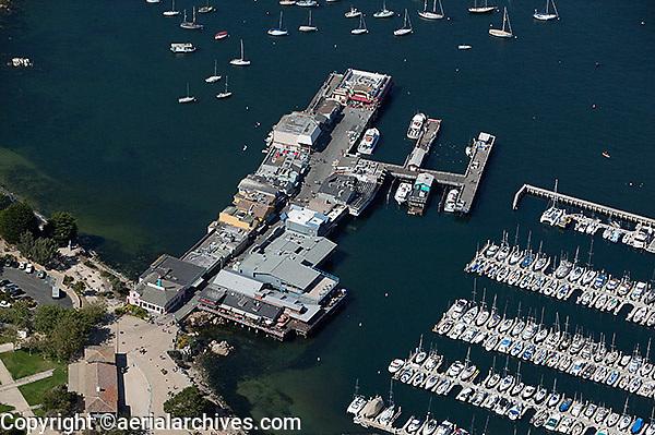 aerial photograph pier and marina Monterey, California