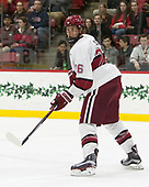 Jacob Olson (Harvard - 26) - The Harvard University Crimson defeated the St. Lawrence University Saints 6-3 (EN) to clinch the ECAC playoffs first seed and a share in the regular season championship on senior night, Saturday, February 25, 2017, at Bright-Landry Hockey Center in Boston, Massachusetts.