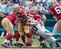 Charlotte, NC - September 18, 2016: The Carolina Panthers play the San Francisco 49ers at Bank of America Stadium.  Final score Carolina 46, San Francisco 27.