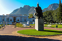 South Africa, Cape Town. The Company's Garden in central Cape Town was originally created in the 1650s. Statue of Jan Christian Smuts.
