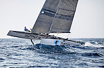 The GC32 is the one design for the Great Cup Racing circuit, at the Extreme Sailing Series, Nice, Alpes-Maritimes, France. Day Two.
