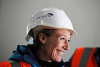 SCHAATSEN: HEERENVEEN: IJsstadion Thialf, 23-09-2015, Perspresentatie Team Clafis, rondleiding ver(nieuw)bouw, Carien Kleibeuker, ©foto Martin de Jong