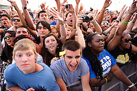 Crowd at the Bamboozle Music Festival. Meadowlands Sports Complex, East Rutherford, NJ.  April 30, 2011. Copyright © 2011 Chris Owyoung.