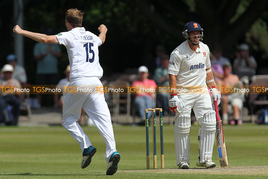 Frustration for Graham Napier of Essex after he is trapped lbw by Tom Taylor - Derbyshire CCC vs Essex CCC - LV County Championship Division Two Cricket at Queen's Park, Chesterfield - 09/07/14 - MANDATORY CREDIT: Gavin Ellis/TGSPHOTO - Self billing applies where appropriate - 0845 094 6026 - contact@tgsphoto.co.uk - NO UNPAID USE