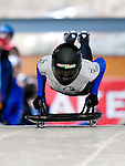 15 December 2006: Desiree Bjerke from Norway, starts her run at the FIBT Women's World Cup Skeleton Competition at the Olympic Sports Complex on Mount Van Hoevenburg  in Lake Placid, New York, USA. &amp;#xA;&amp;#xA;Mandatory Photo credit: Ed Wolfstein Photo<br />