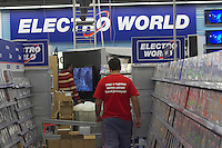 Electro World employees prepare the store to the great opening in Central Europe's largest shopping center Arena Plaza in Budapest, Hungary. Wednesday, 14. November 2007. ATTILA VOLGYI