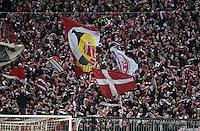 FUSSBALL  1. BUNDESLIGA  SAISON 2015/2016  24. SPIELTAG FC Bayern Muenchen - 1. FSV Mainz 05       02.03.2016 Bayern Fans schwenken schön Schal und Fahne