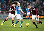 Hearts v St Johnstone&hellip;05.11.16  Tynecastle   SPFL<br />David Wotherspoon is fouled by Jamie Walker<br />Picture by Graeme Hart.<br />Copyright Perthshire Picture Agency<br />Tel: 01738 623350  Mobile: 07990 594431