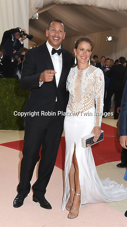 Alex Rodriguez and Anne Wojzicki attend the Metropolitan Museum of Art Costume Institute Benefit Gala on May 2, 2016 in New York, New York, USA. The show is Manus x Machina: Fashion in an Age of Technology. <br /> <br /> photo by Robin Platzer/Twin Images<br />  <br /> phone number 212-935-0770
