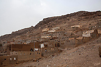 Wednesday 15 July, 2015: An abandoned salafist madrasa (university) where 7000 students used to live and learn in Dammaj village is now used as temporary shelter for the displaced families from the heavy fighting and bombarments in Sa'dah governorate in the northern province of Sa'dah, the stronghold of the Houthi's movement in Yemen. (Photo/Narciso Contreras)