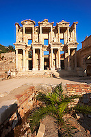 Picture& image of The library of Celsus. Images of the Roman ruins of Ephasus, Turkey. Stock Picture & Photo art prints 1
