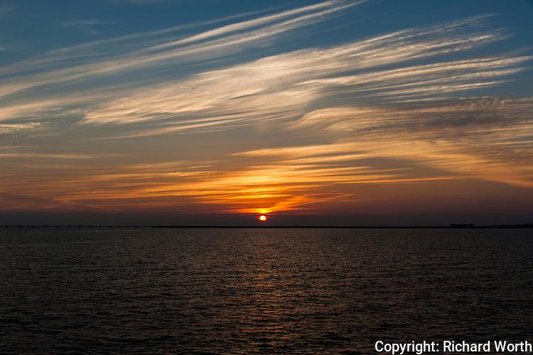 Sunset over San Francisco Bay.