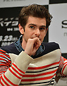 Andrew Garfield, Jun 13, 2012 : Tokyo, Japan - Andrew Garfield attends a news conference in Tokyo on Wednesday, June 13, 2012. The American film star was in town along with director Marc Webb, actress Emma Stone and actor Rhys Ifans to promote a June 23 world premiere of The Amazing Spider-Man.  (Photo by Natsuki Sakai/AFLO)