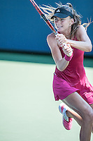 NEW YORK, NY – AUGUST 25: Daniela Hantuchova (SVK) competes in the day session of the first round of the 2014 US Open.