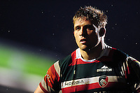 Tom Youngs of Leicester Tigers looks on during a break in play. Aviva Premiership match, between Leicester Tigers and Exeter Chiefs on March 3, 2017 at Welford Road in Leicester, England. Photo by: Patrick Khachfe / JMP