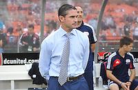 Jeay Heaps New England revolution head coach. The New England Revolution defeated D.C. Untied 2-1, at RFK Stadium, Saturday July 27 , 2013.